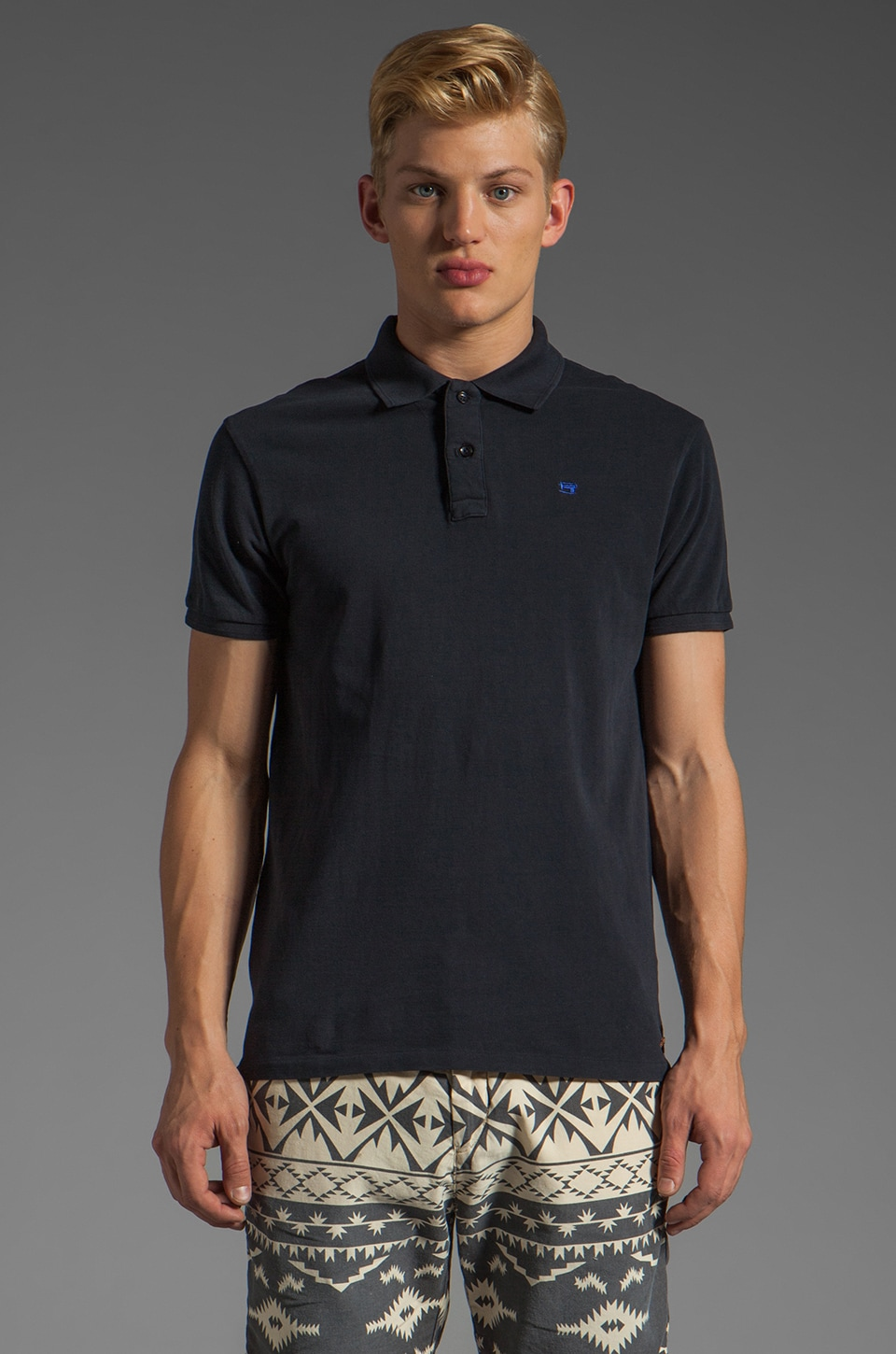 Scotch & Soda Pique Polo in Night