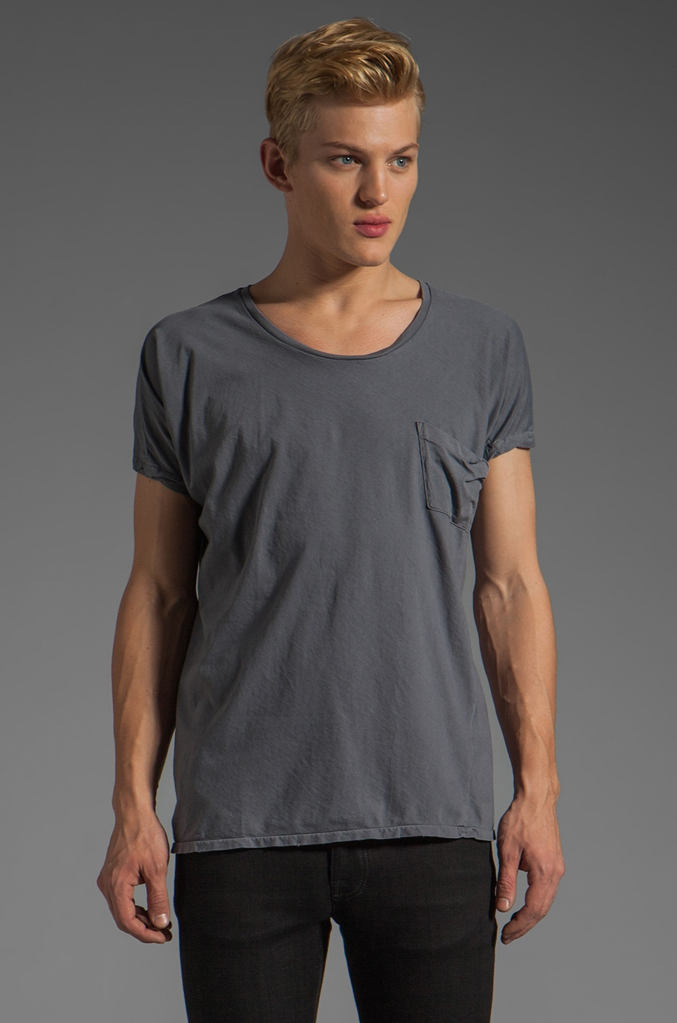 Scotch & Soda Tee in Charcoal