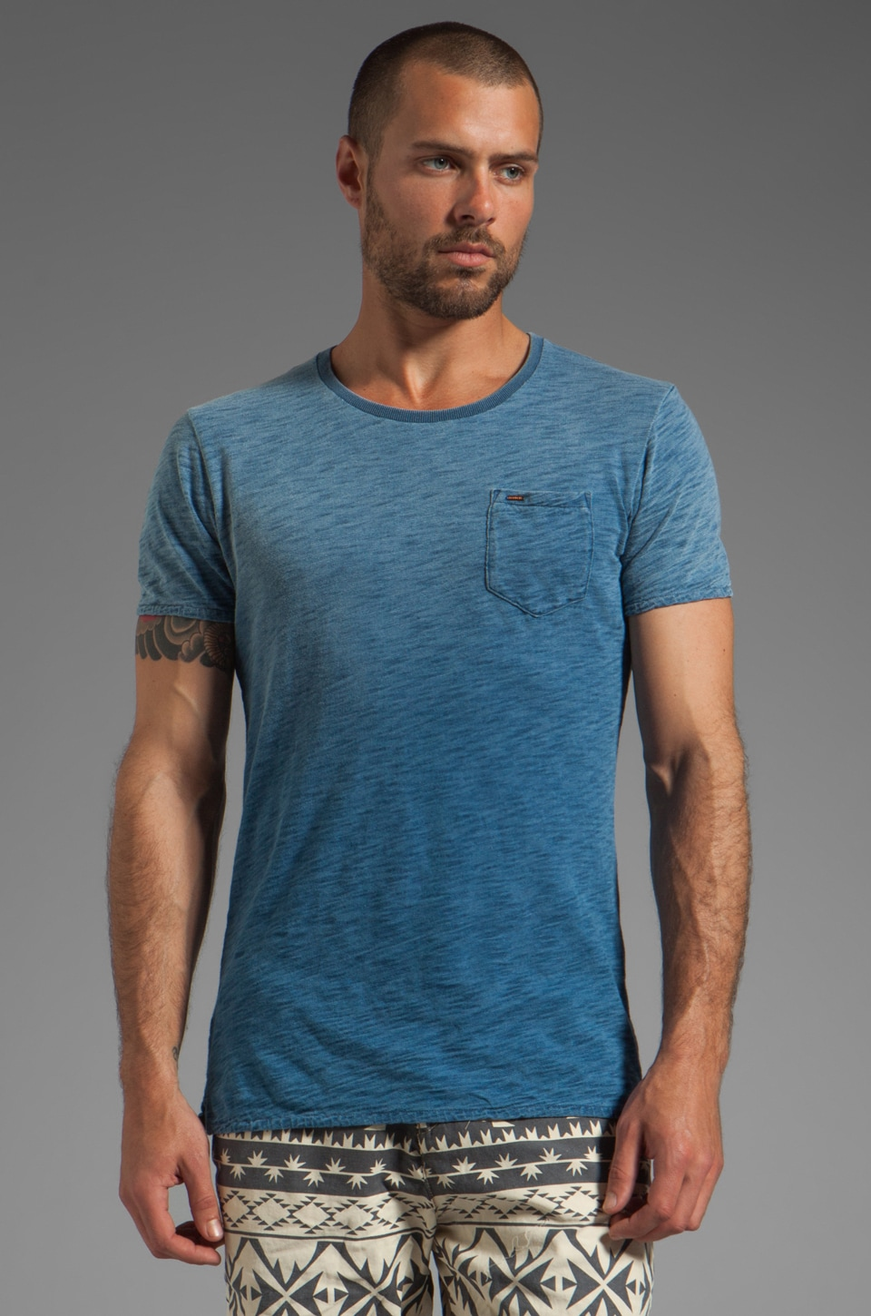 Scotch & Soda Crew Tee in Washed Indigo