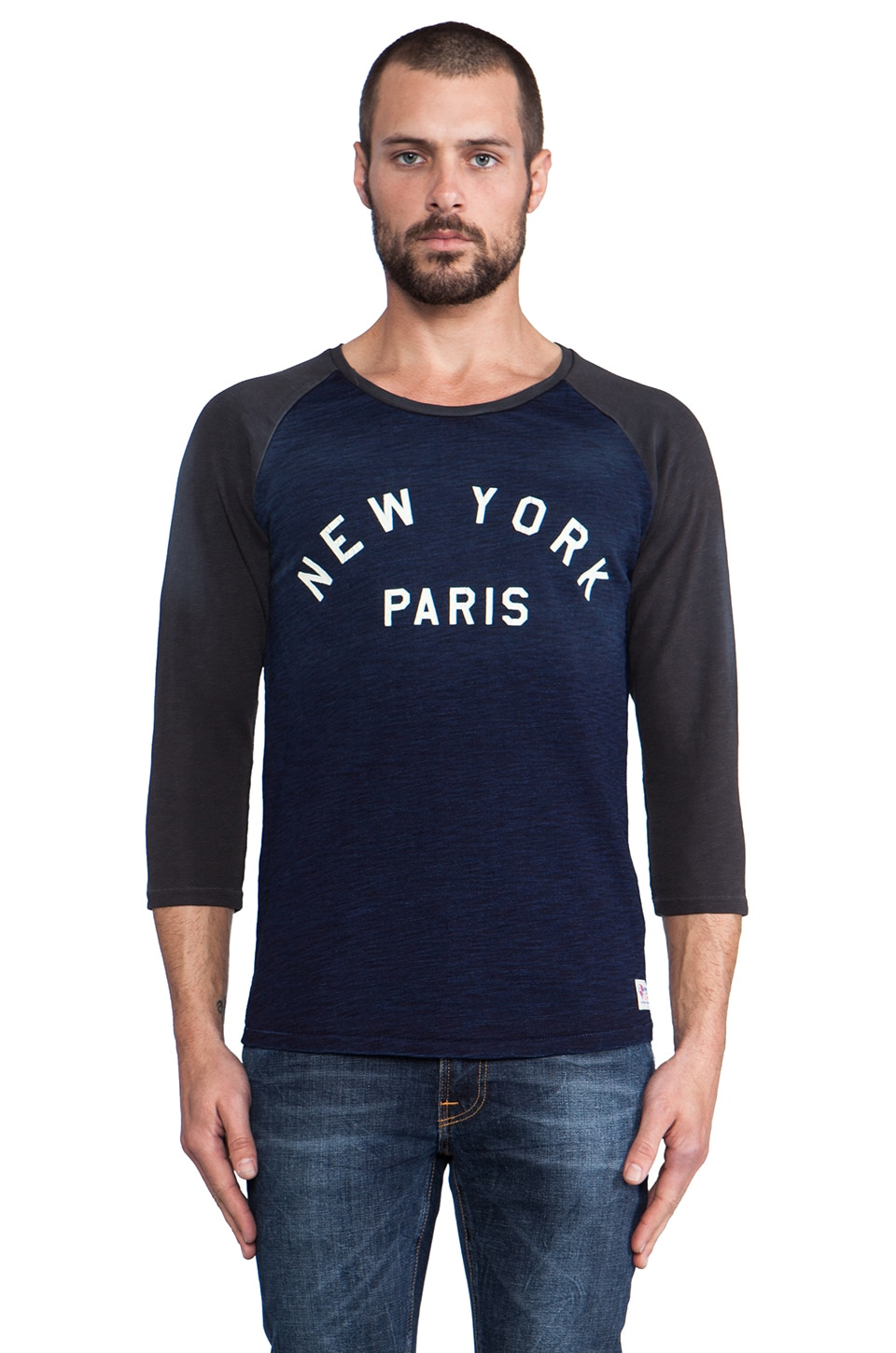 Scotch & Soda NY Baseball Fans Tee in Blue/Black