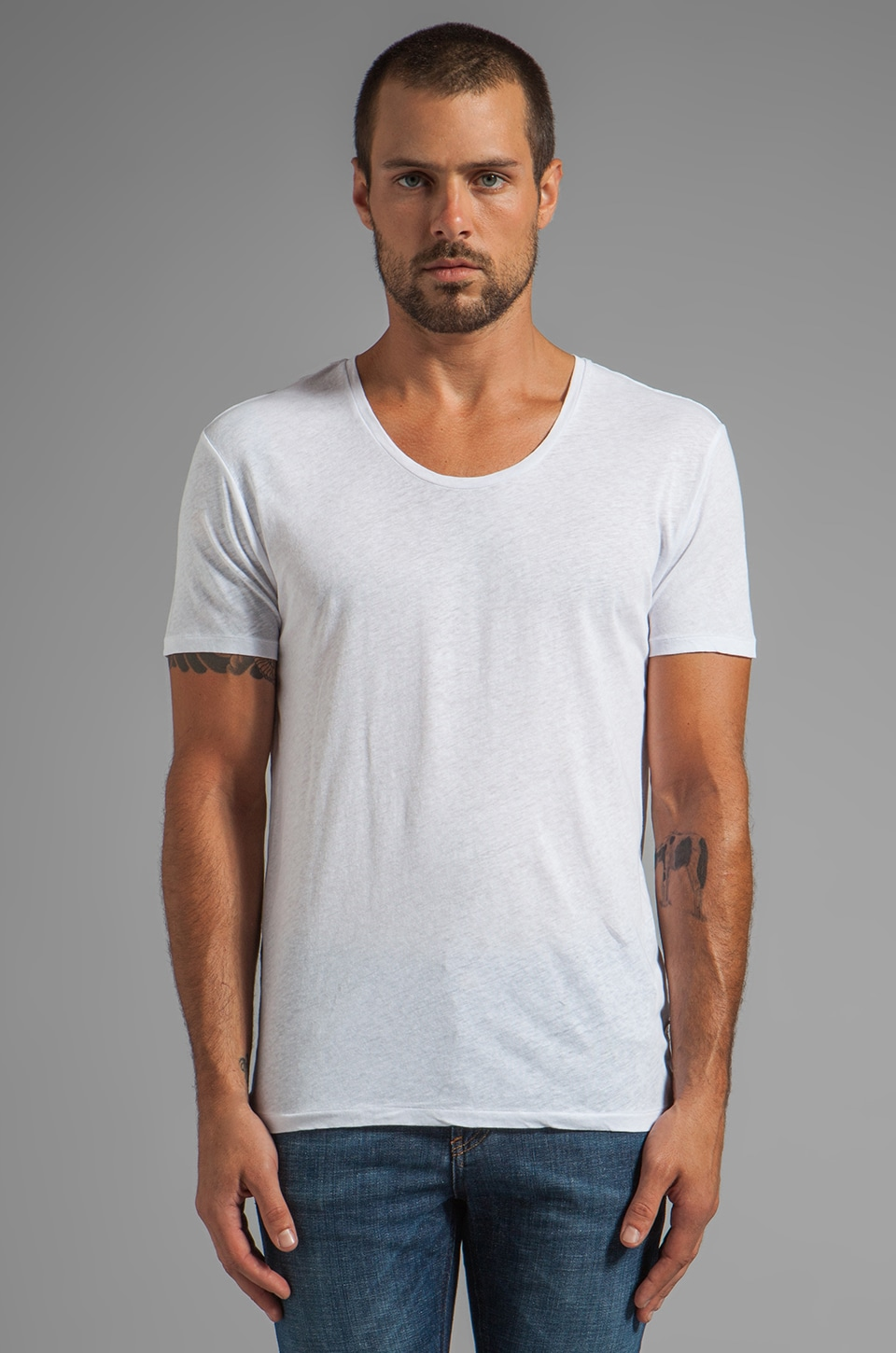 Scotch & Soda Home Alone Crew Tee in White