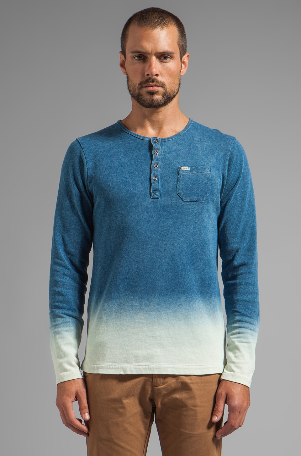 Scotch & Soda Granddad Dip Dye in Indigo