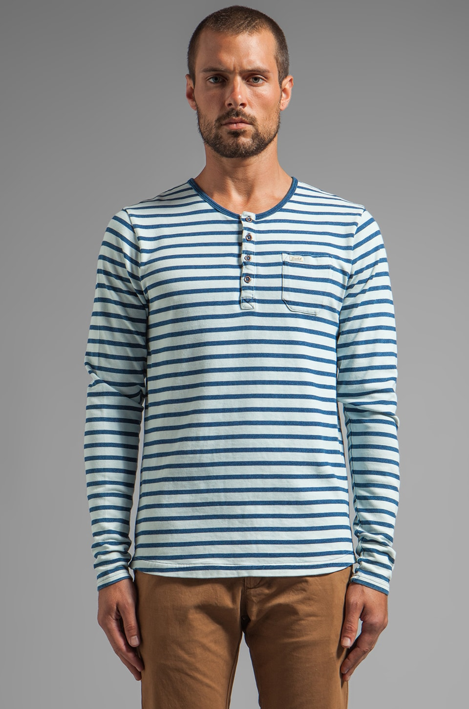 Scotch & Soda Granddad Striped in Indigo