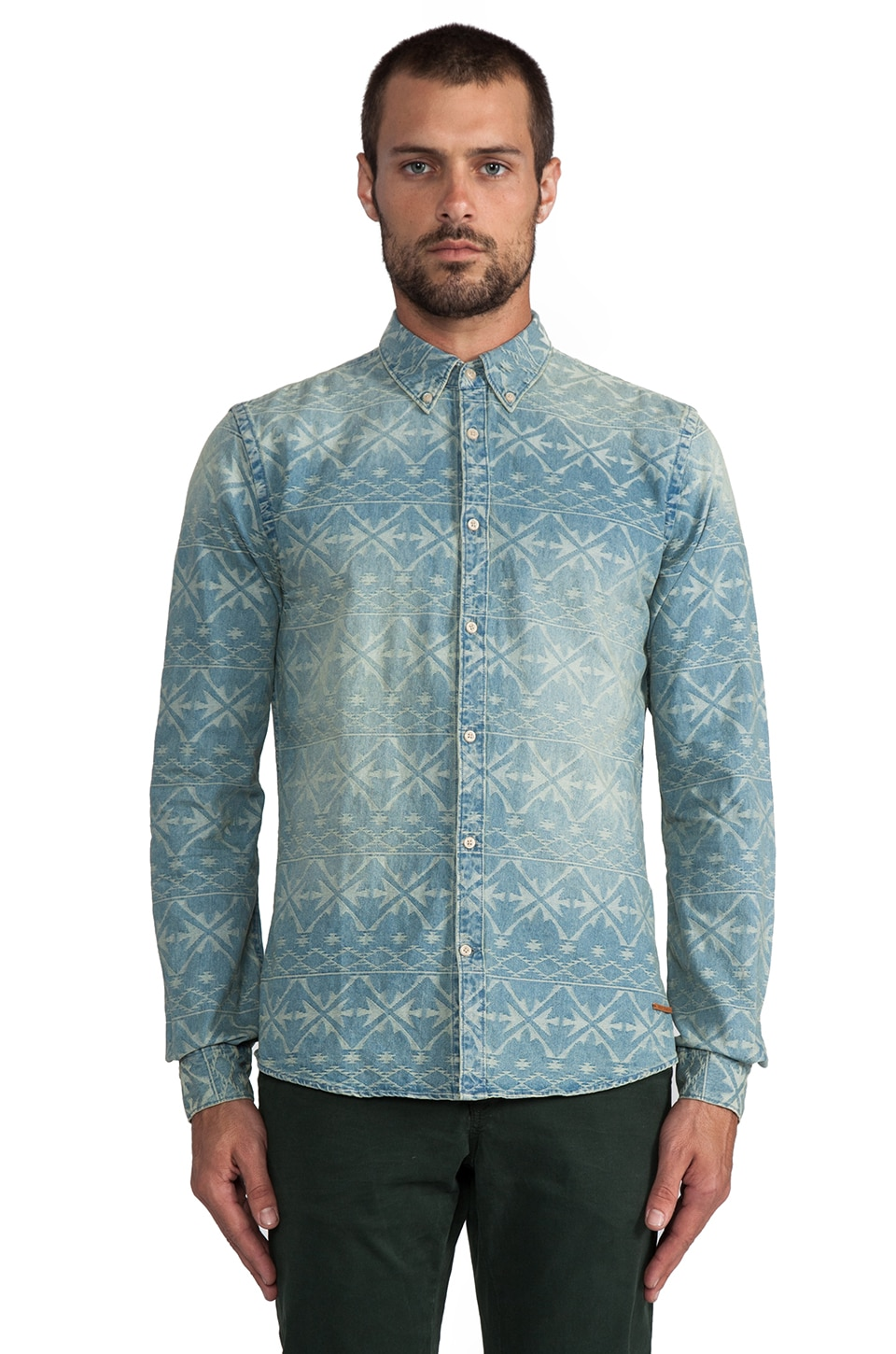 Scotch & Soda Fancy Ikat Shirt in Denim
