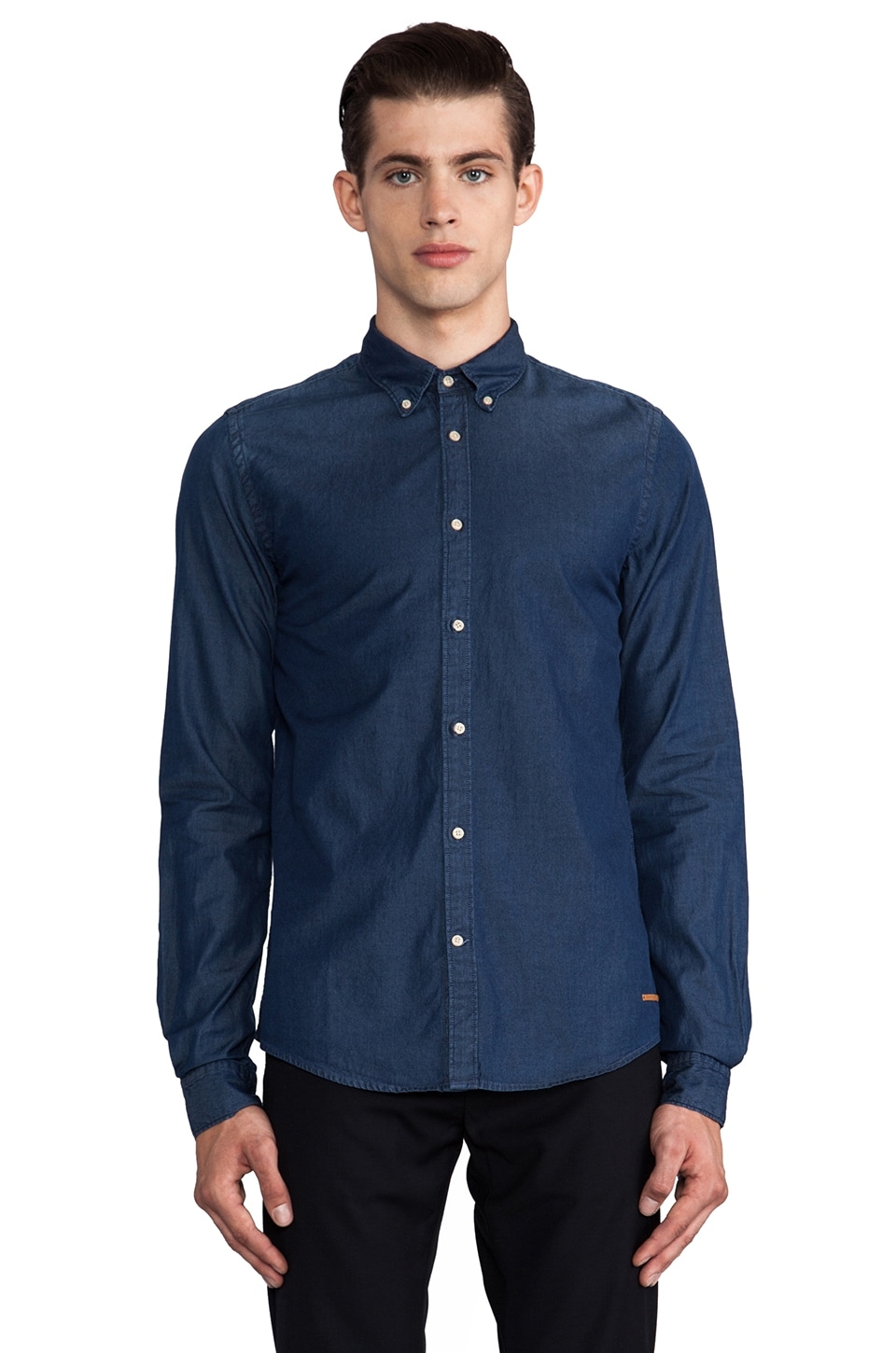 Scotch & Soda Fancy Ikat Shirt in Indigo