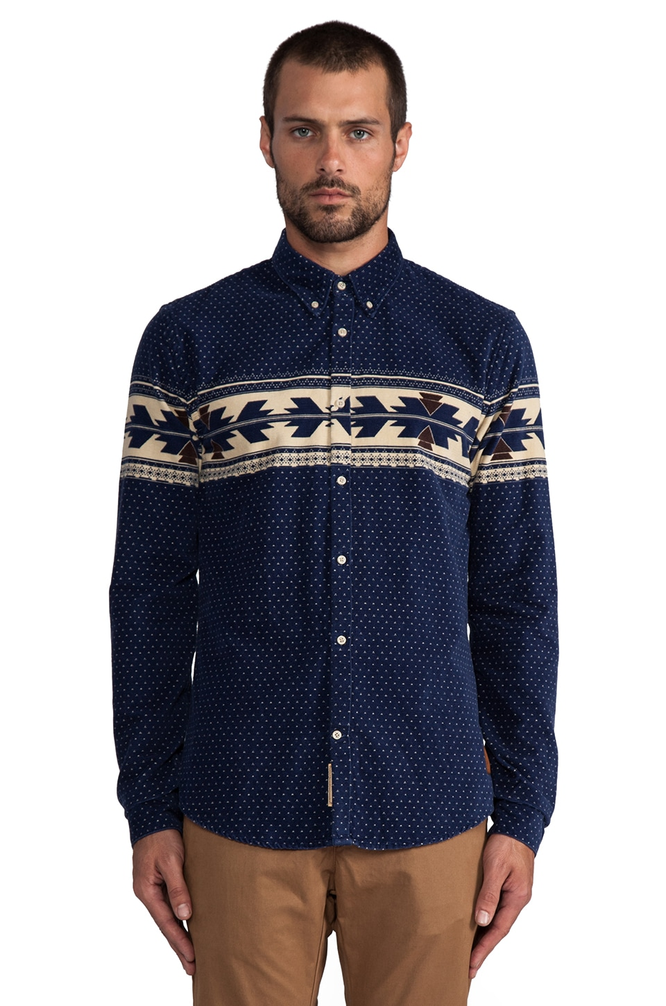 Scotch & Soda Corduroy Shirt in Navy