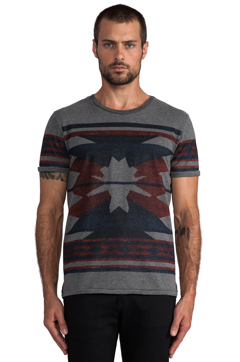 Scotch & Soda Intarsia Tee in Multi