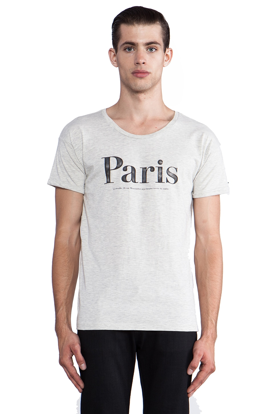 Scotch & Soda Paris Tee in Ecru Melange