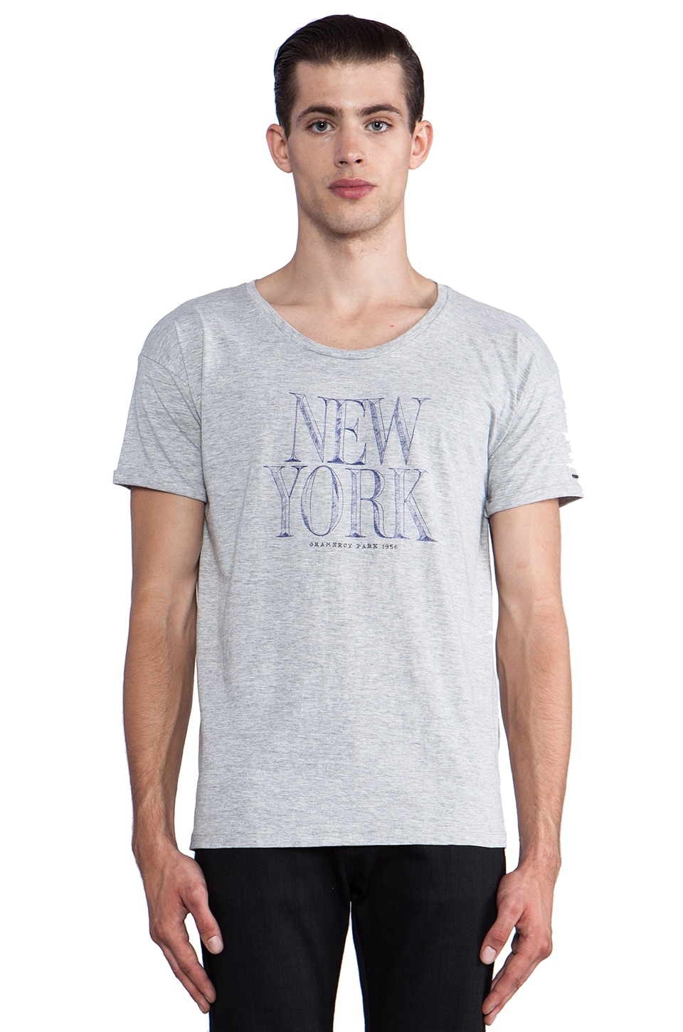 Scotch & Soda NY Tee in Grey Melange