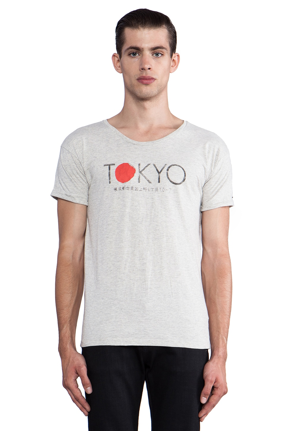 Scotch & Soda Tokyo Tee in Vintage White