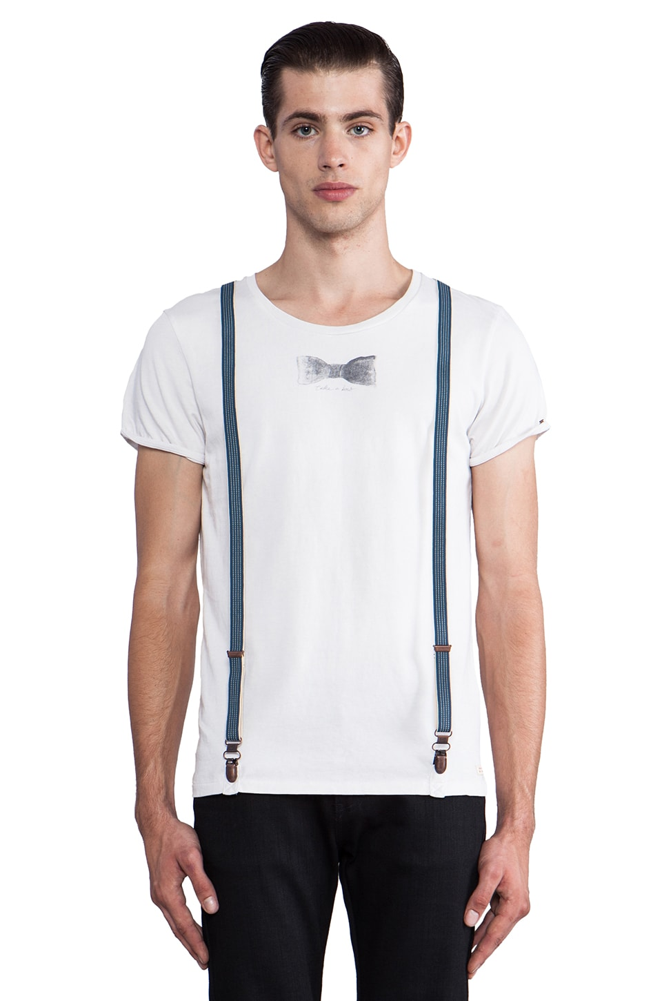 Scotch & Soda Stripes & Solids Tee in White