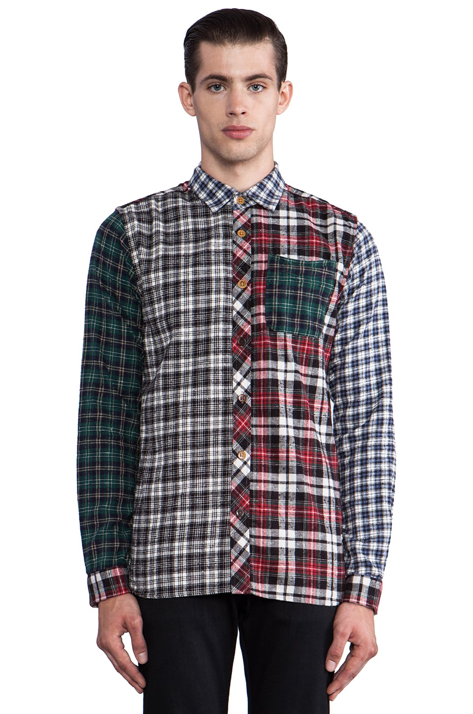 Scotch & Soda Flannel Check Shirt in Multi