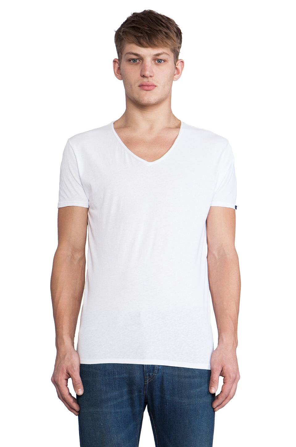 Scotch & Soda Home Alone Weekend V Neck in White
