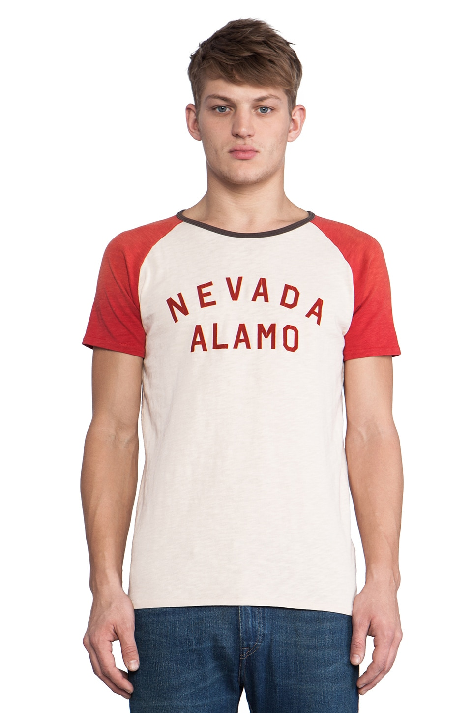Scotch & Soda Nevada Alamo Rocker Tee in Red
