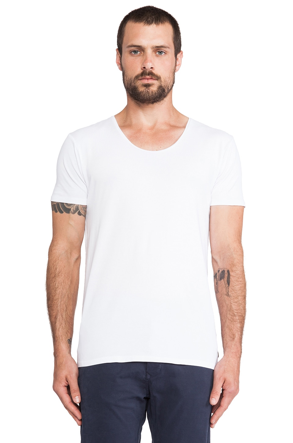 Scotch & Soda Basic Crewneck Tee in White
