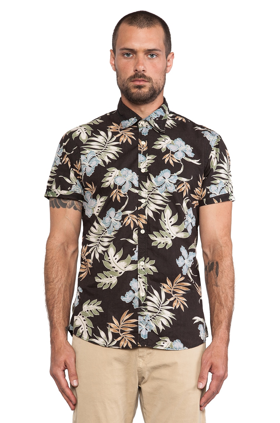 Scotch & Soda Allover Print Shirt in Black & Multi