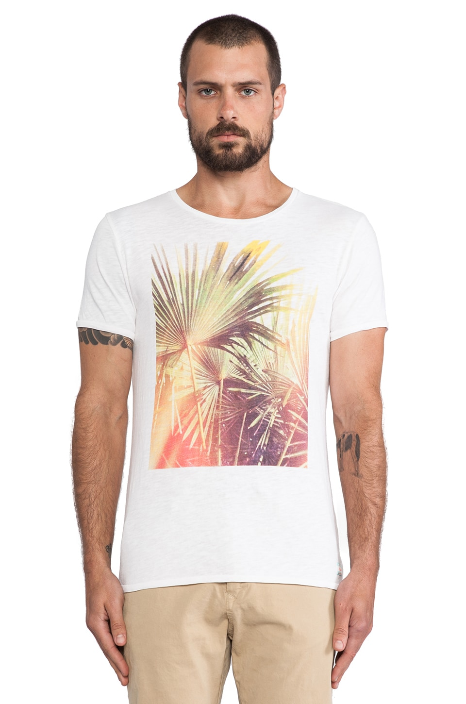 Scotch & Soda Photoprint Tee in White