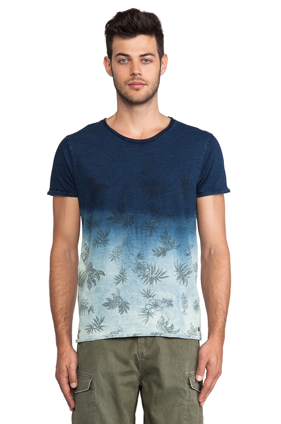 Scotch & Soda Indigo Tee in Blue/ Navy