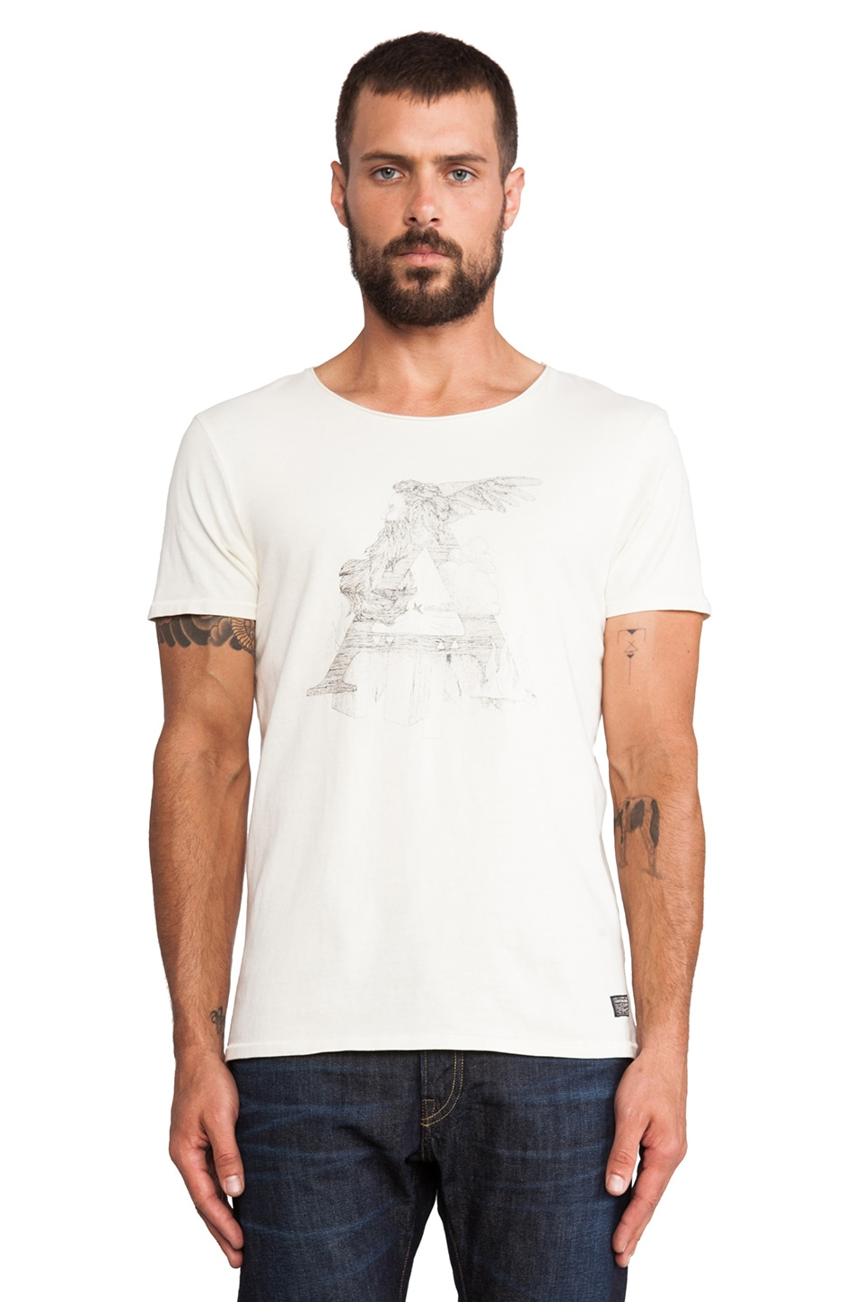 Scotch & Soda Amsterdams Blauw Alchemy Concept Tee in White