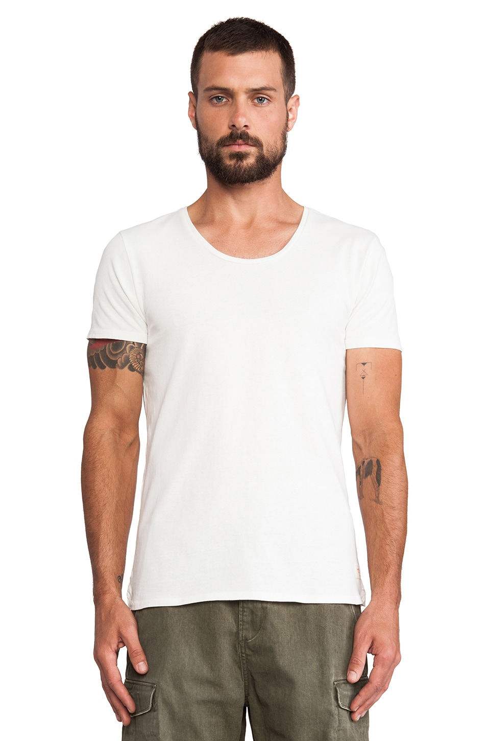 Scotch & Soda Home Alone Crew Neck Tee in White