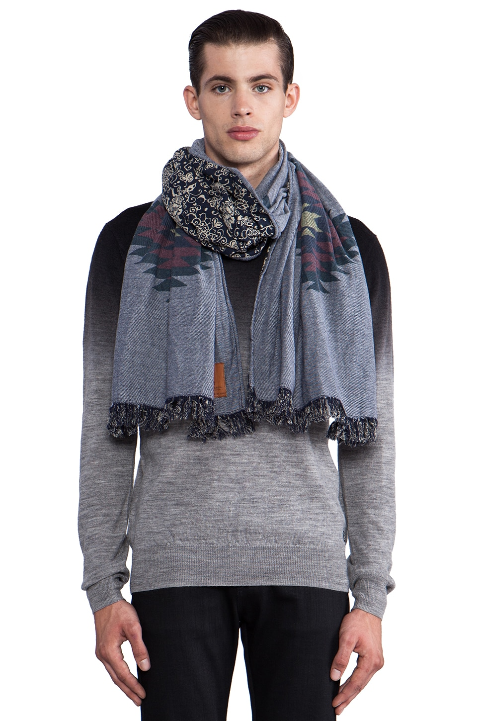 Scotch & Soda Bonded Scarf in Blue