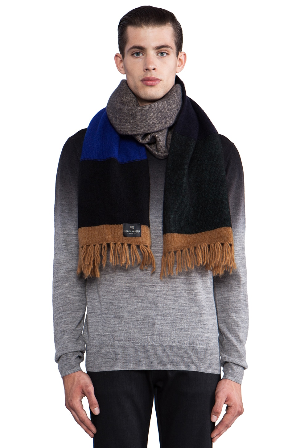 Scotch & Soda Colorblock Scarf in Multi