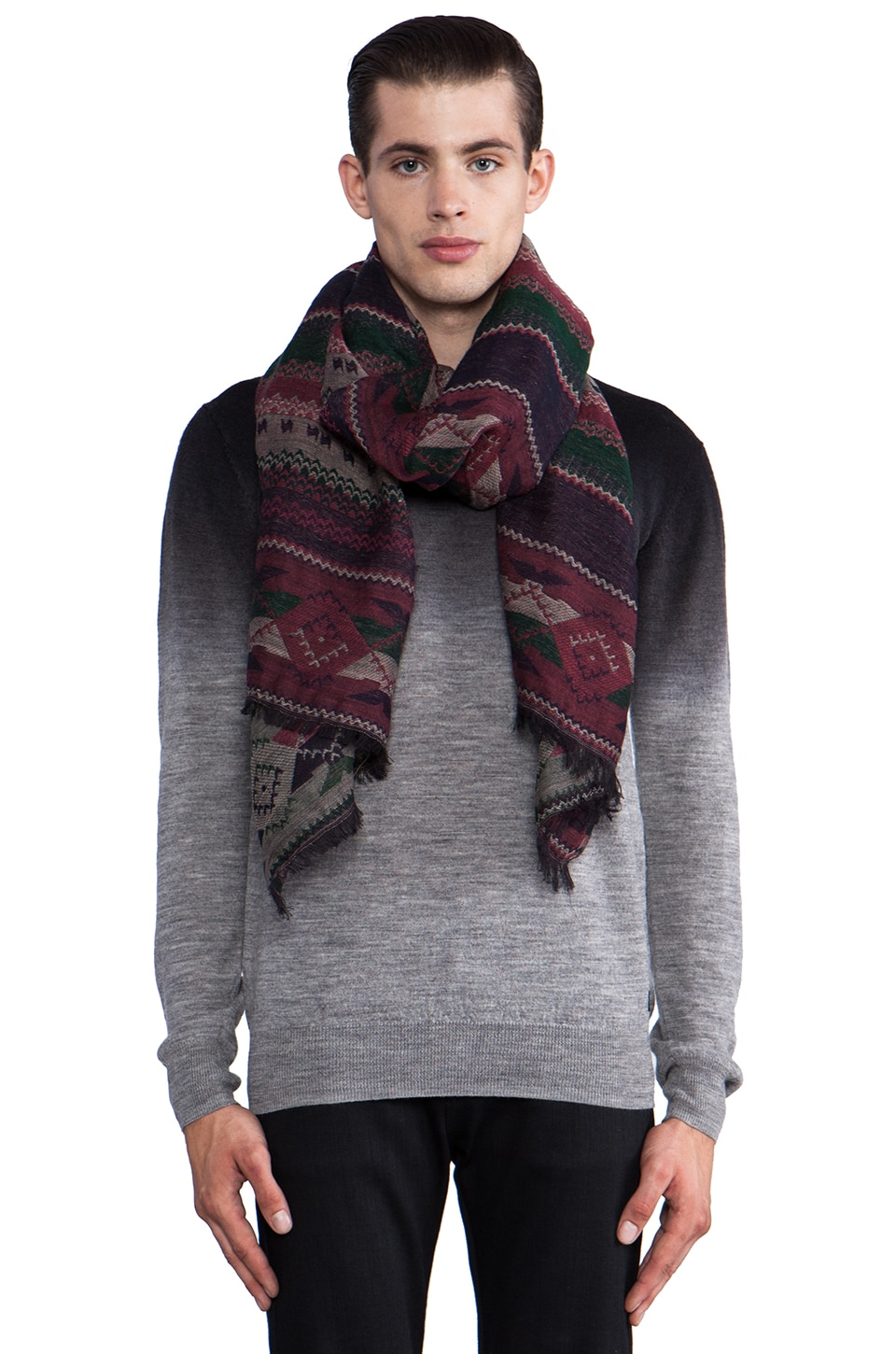 Scotch & Soda Blanket Fringe Scarf in Multi