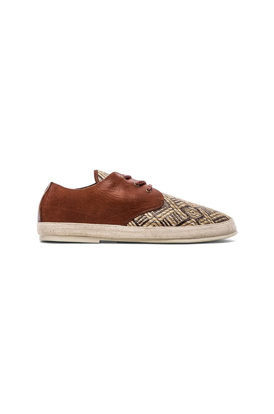 Scotch & Soda Straw Shoe w/ Leather in Brown