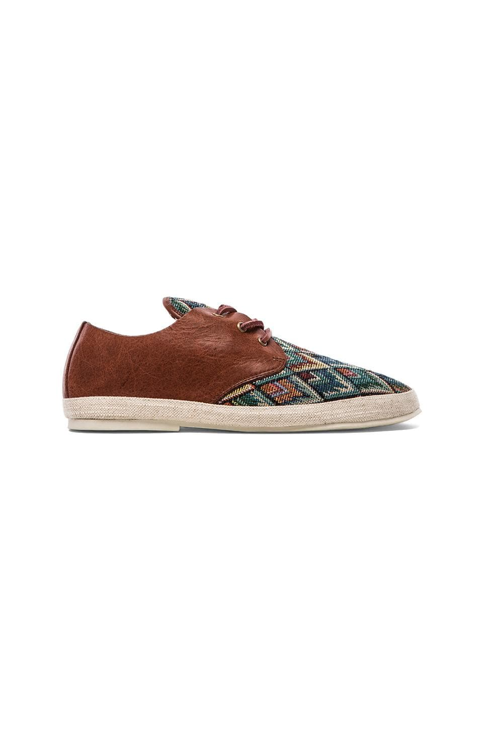 Scotch & Soda Straw Shoe w/ Leather in Blue & Multi