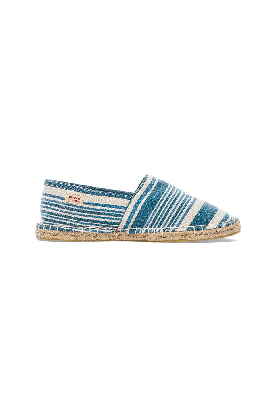 Scotch & Soda Canvas Espadrilles in Blue & White