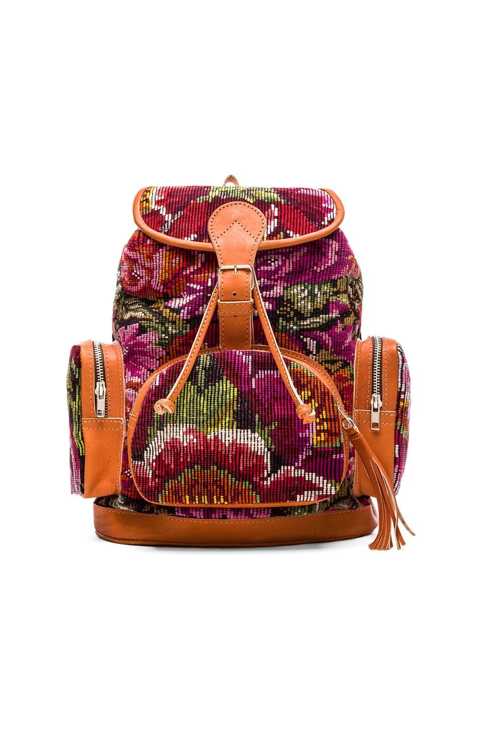 STELA 9 Anita Backpack in Floral Huipil