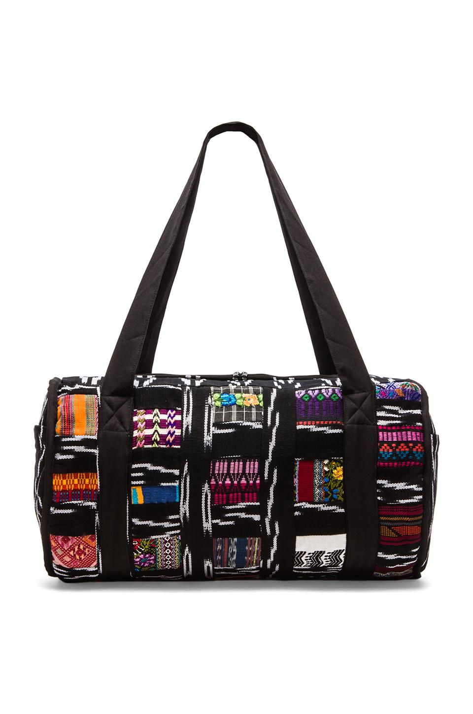 STELA 9 Patchwork Duffle in Black