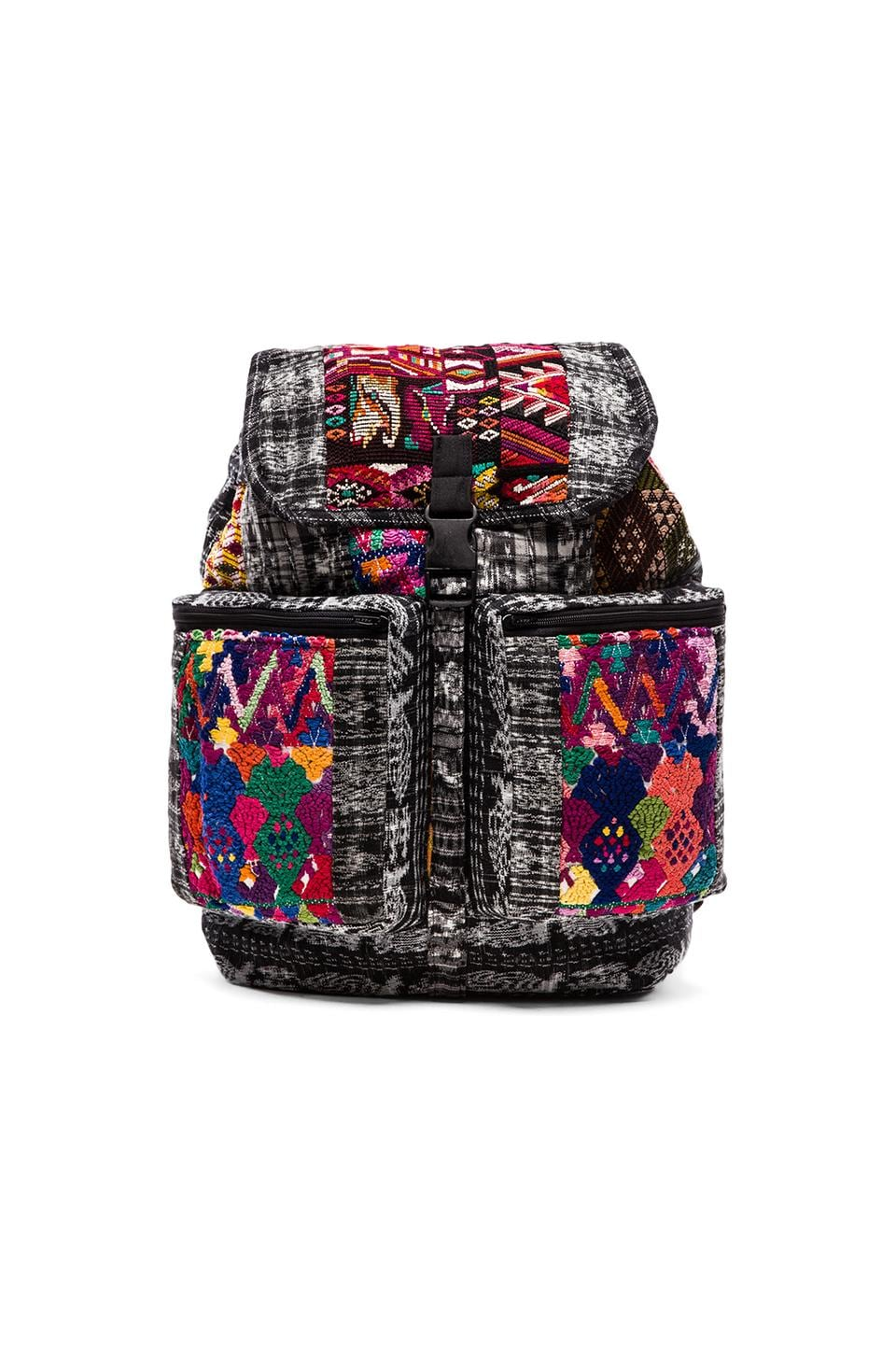 STELA 9 Santiago Patchwork Backpack in Black