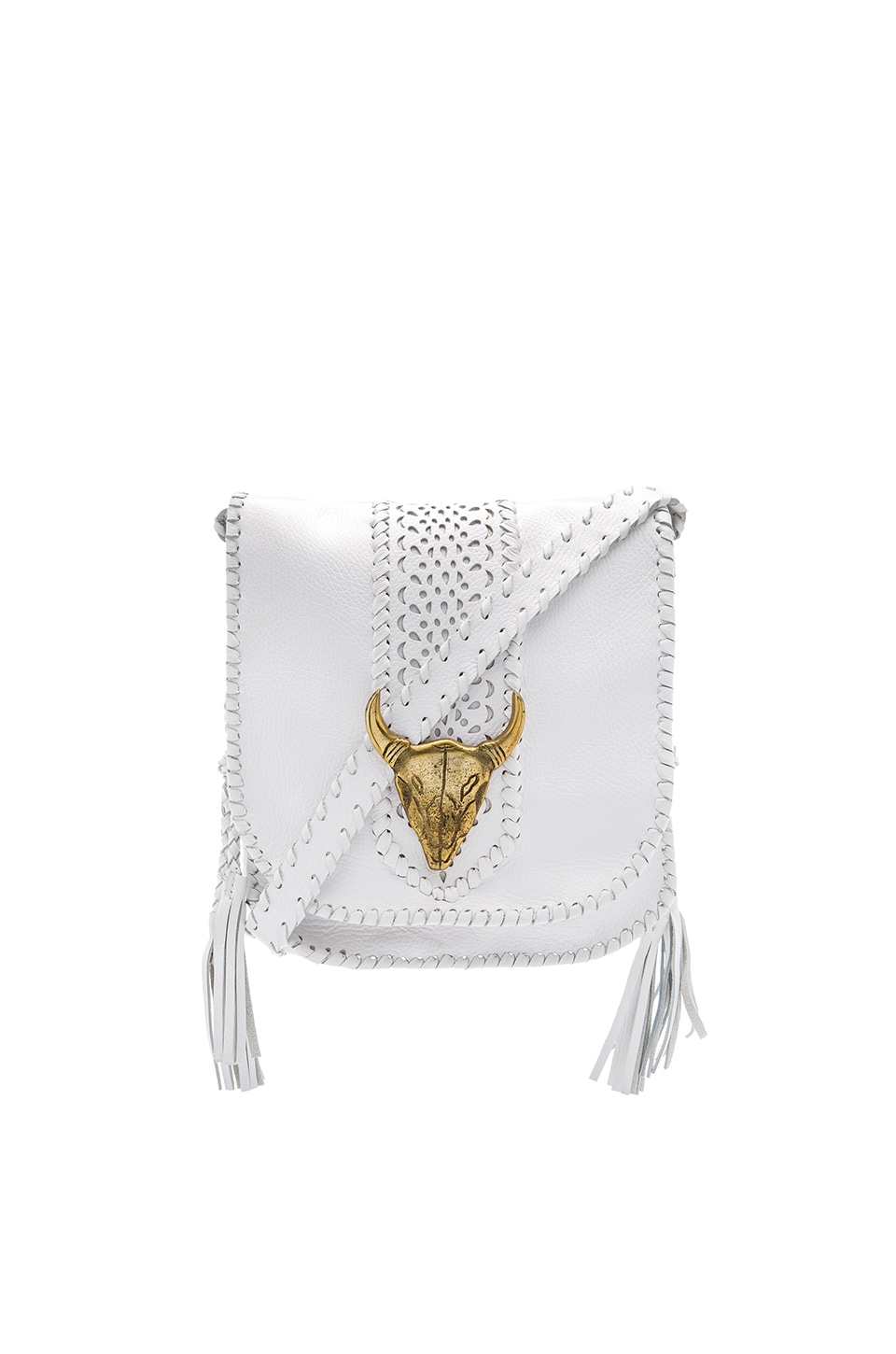 STELA 9 Isa Saddle Bag in Ivory & Bronze