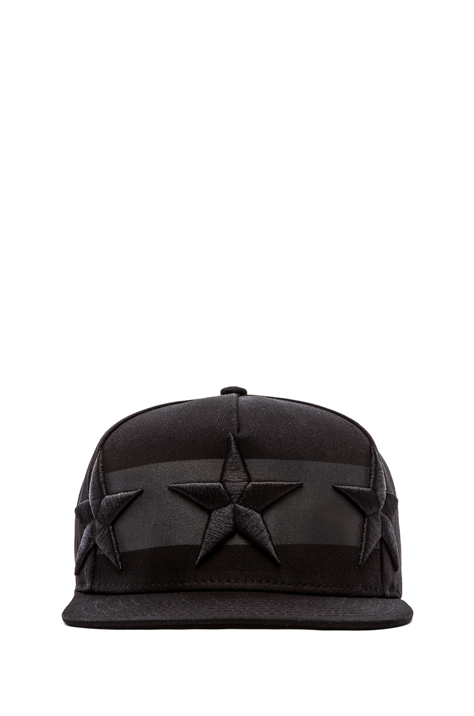 Stampd 3 Star Hat in Black
