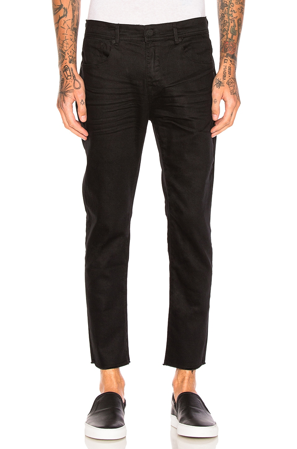 Resin Slim Fit Cropped Jeans by Stampd