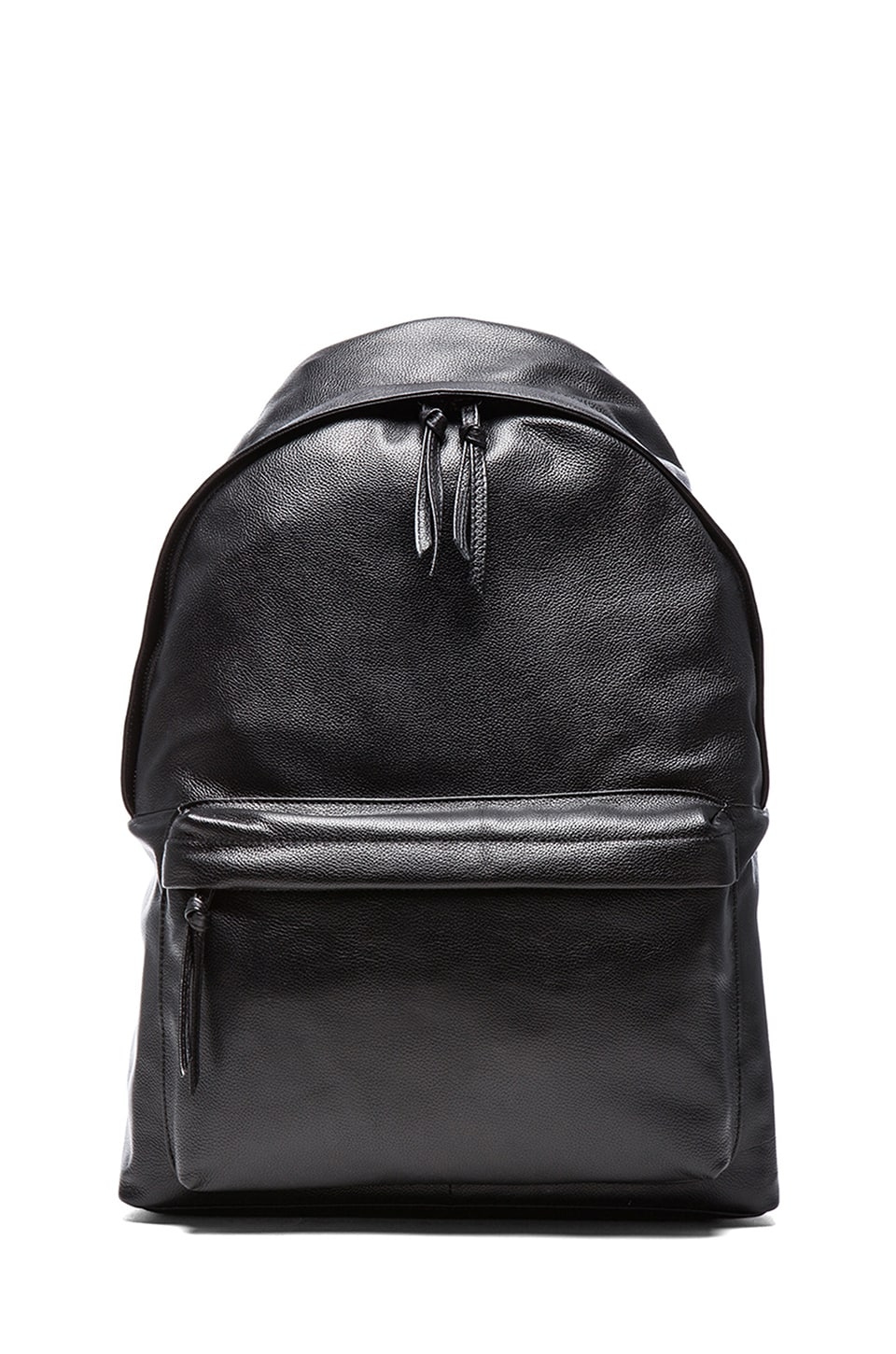 Stampd Leather Backpack in Black