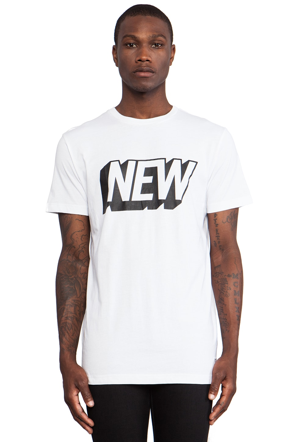Stampd New Tee in White