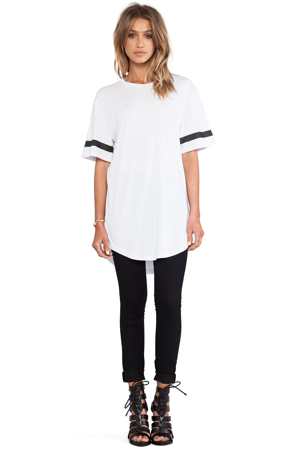 Stampd Elongated LA Tee in White