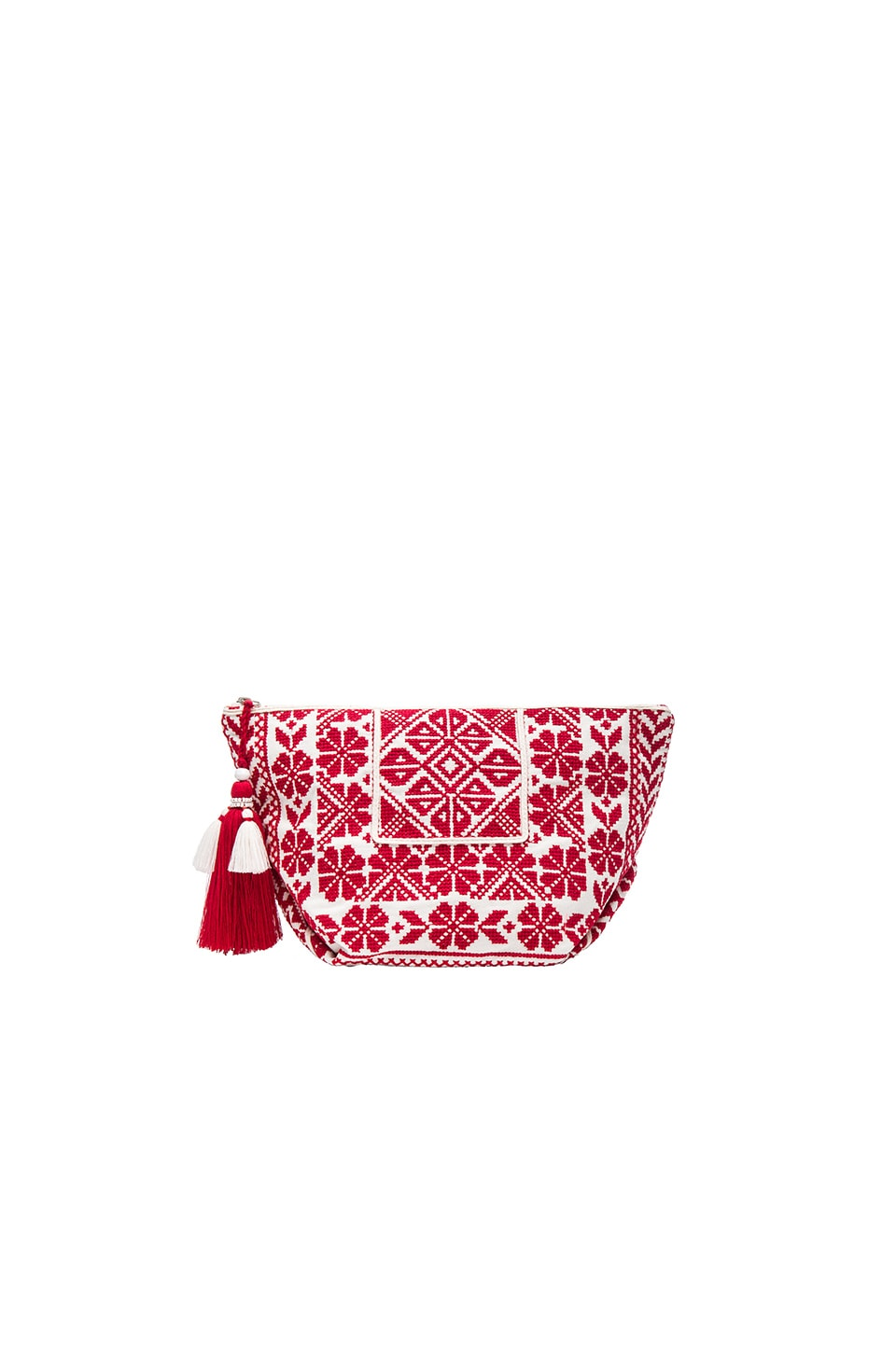 Star Mela Saga Purse in Ecru & Red