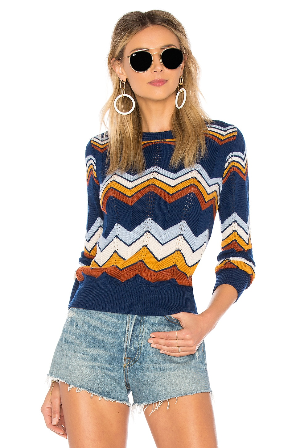 Stoned Immaculate Ziggy Sweater in Navy