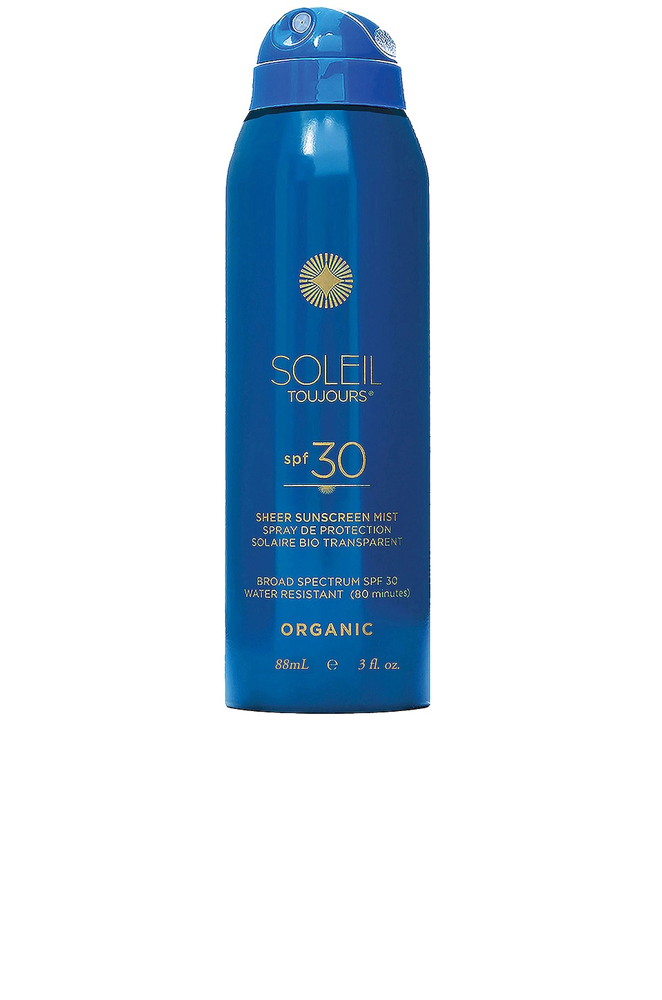Soleil Toujours Travel Organic Sheer Sunscreen Mist SPF 30