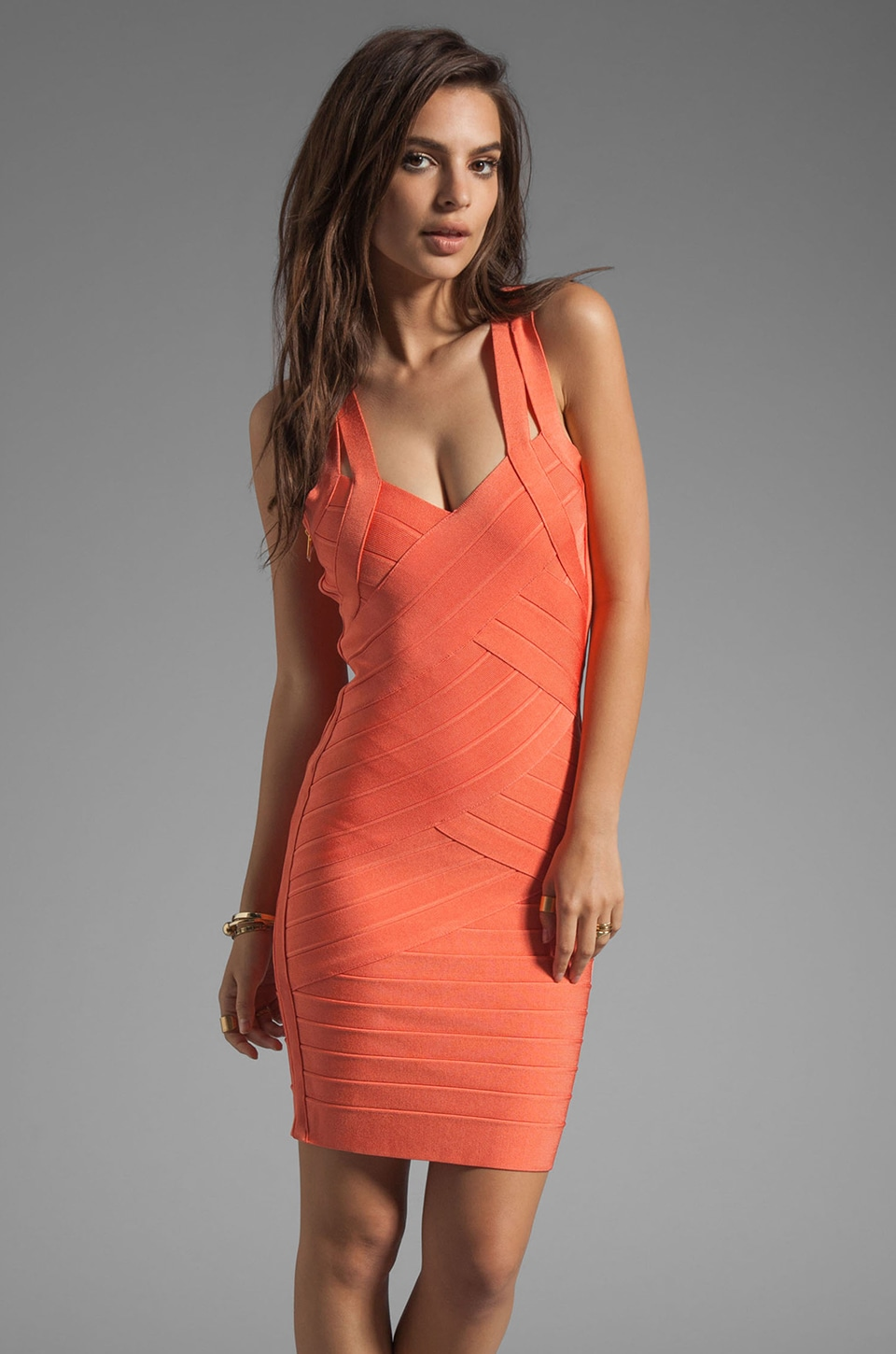 Stretta Christiana Dress in Fusion Coral