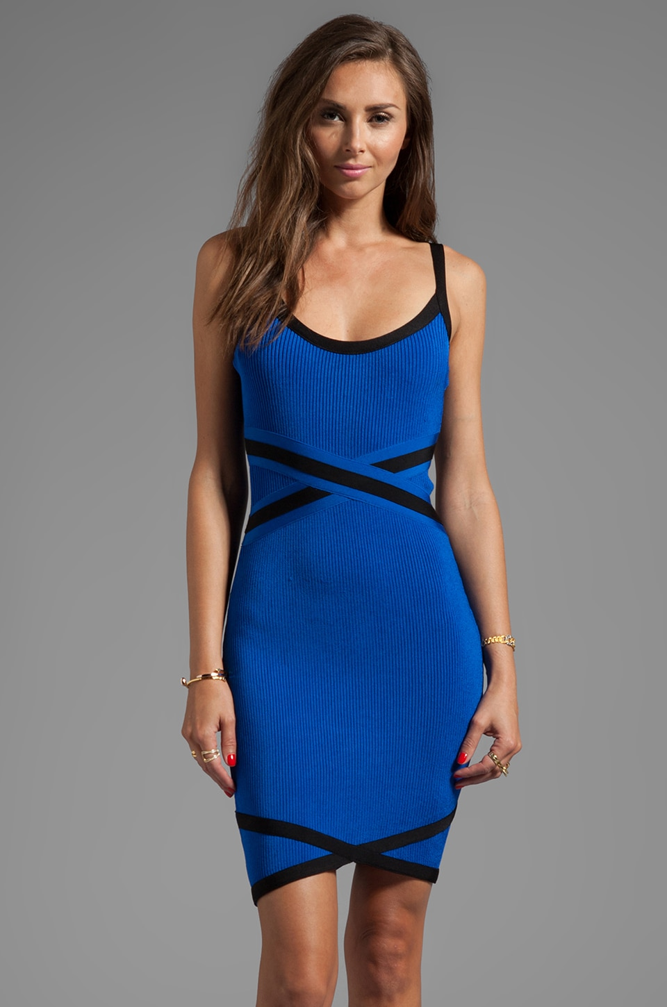 Stretta Adriana Dress in Cobalt/Black