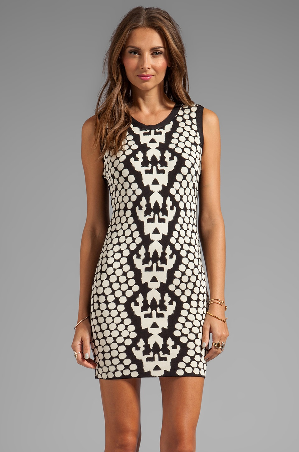 Stretta Padma Tank Dress in Black/White