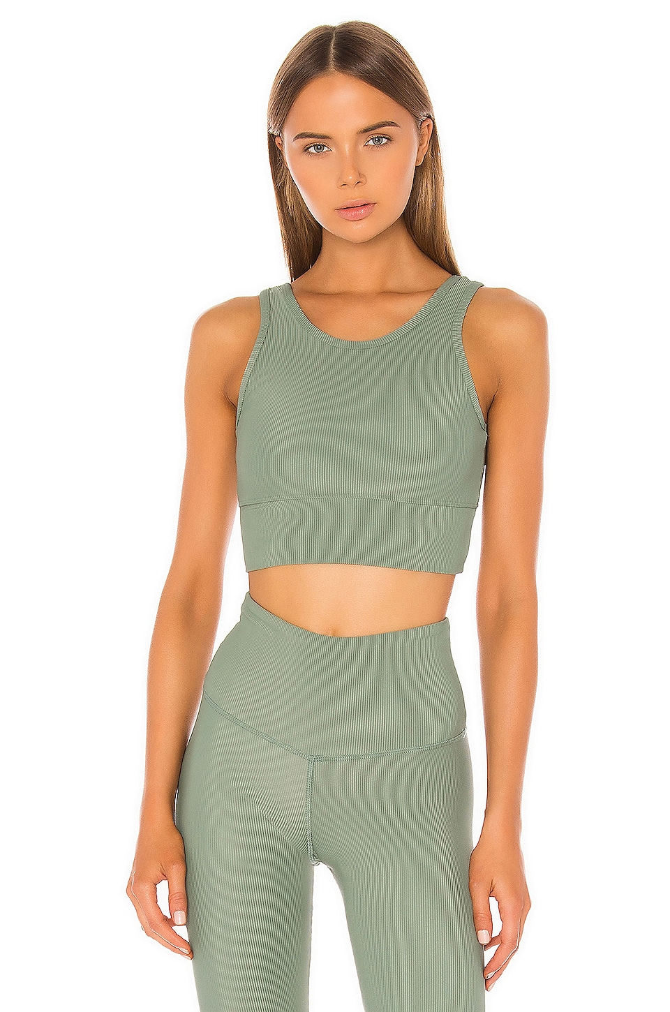 STRUT-THIS Piper Bra in Sage Green Rib