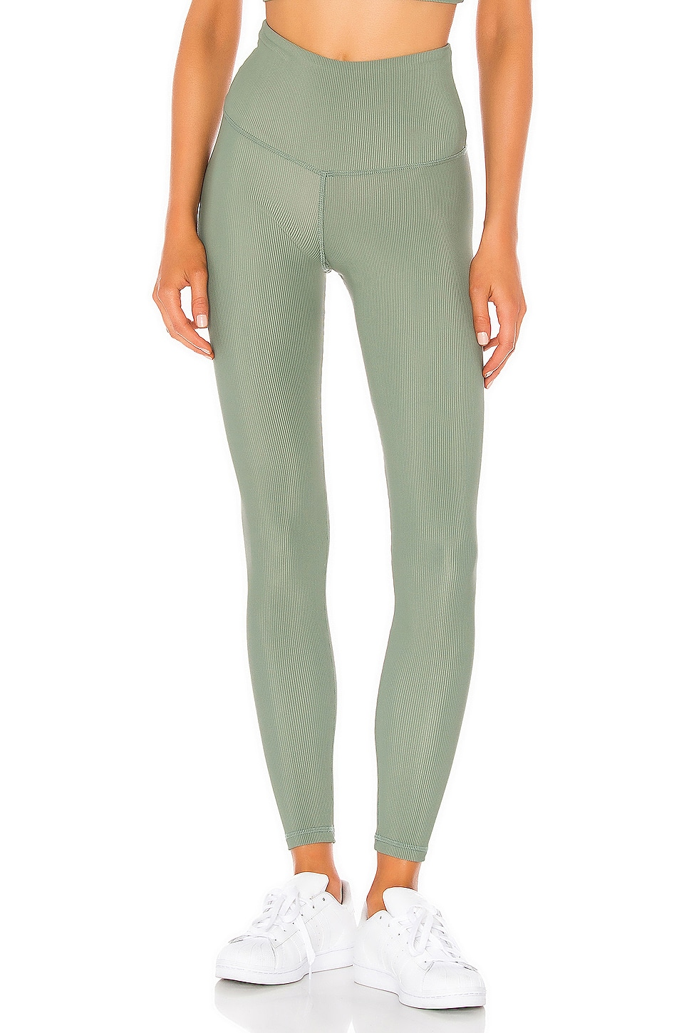 STRUT-THIS Kendall Ankle Pant in Sage Green Rib