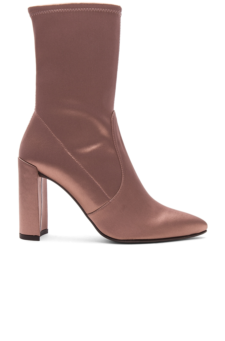 Stuart Weitzman Clinger Bootie in Old Rose