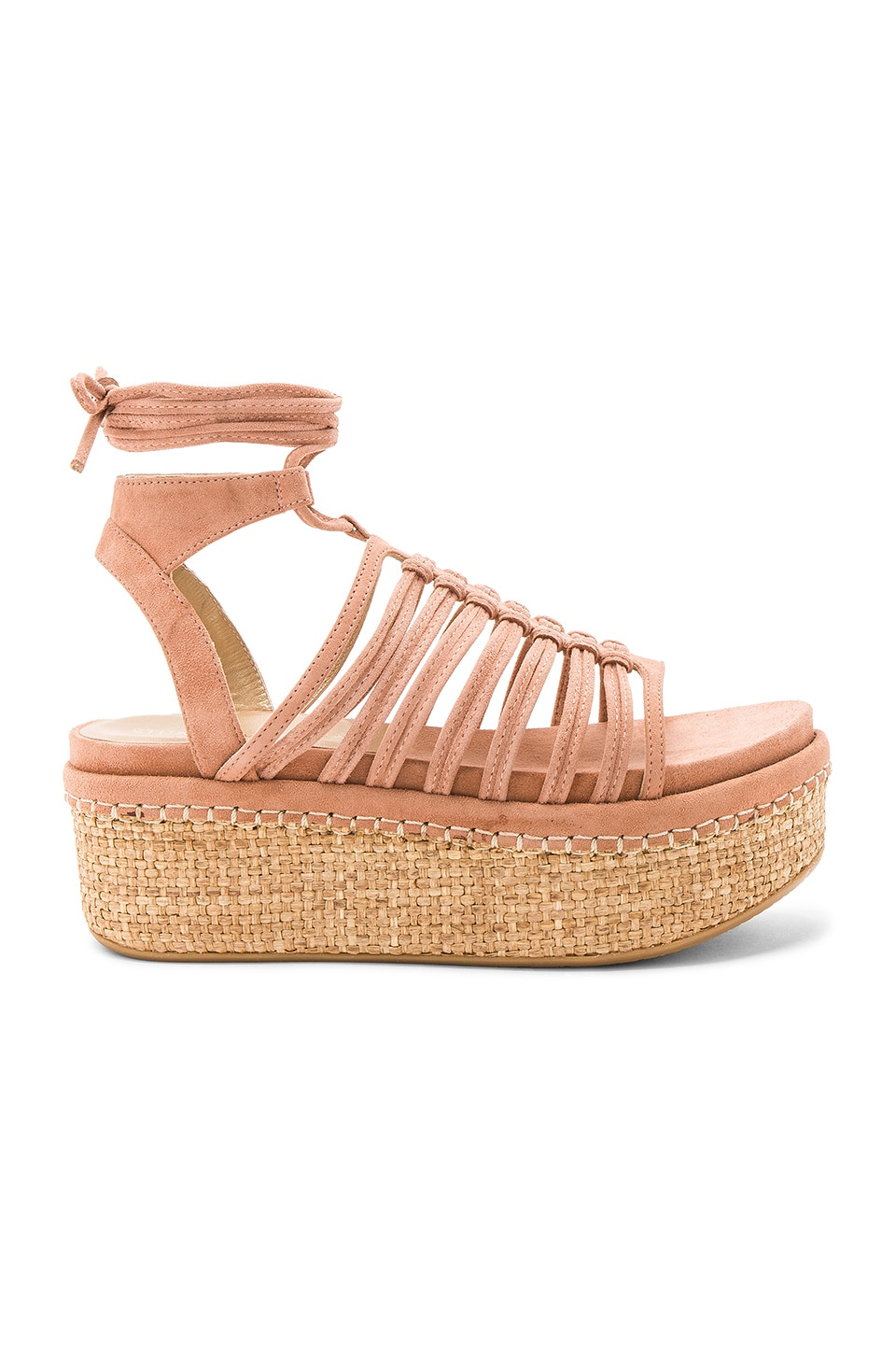 Stuart Weitzman Knotagain Sandal in Naked Suede