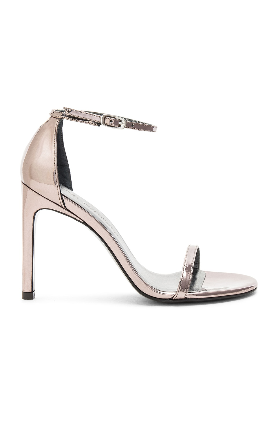 Stuart Weitzman Nudistsong Heel in Pewter Glass